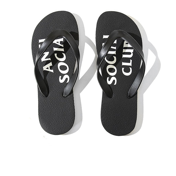 ANTI SOCIAL SOCIAL CLUB UFO SLIPPERS BLACK