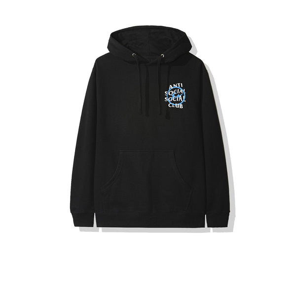 FRAGMENT X ANTI SOCIAL SOCIAL CLUB BLUE BOLT HOODIE BLACK FW19