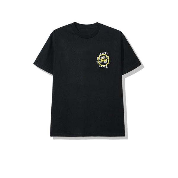 FRAGMENT X ANTI SOCIAL SOCIAL CLUB YELLOW BOLT TEE BLACK FW19