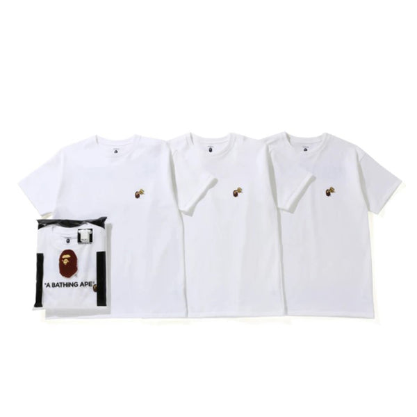READYMADE X BAPE 3 PACK TEE WHITE