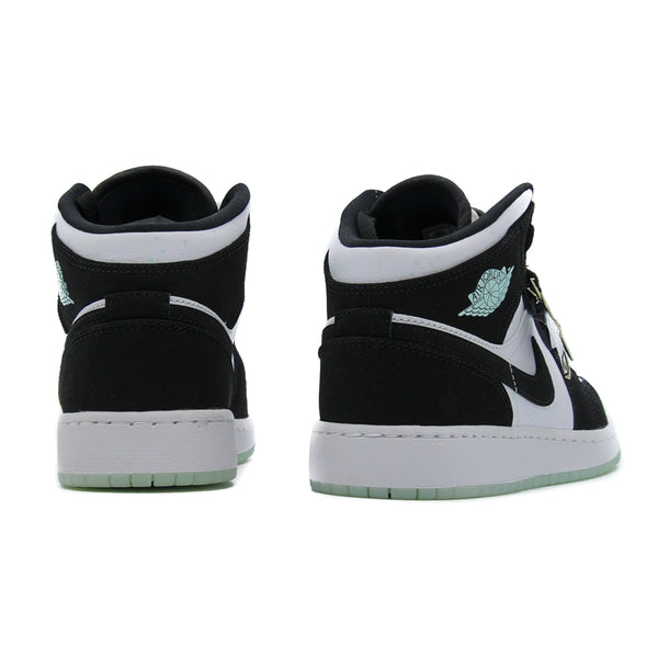 "AIR JORDAN 1 MID GS ""WHITE BLACK TEAL TINT"""