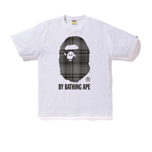 BAPE CHECK BY BATHING APE LADIES TEE WHITE BLACK