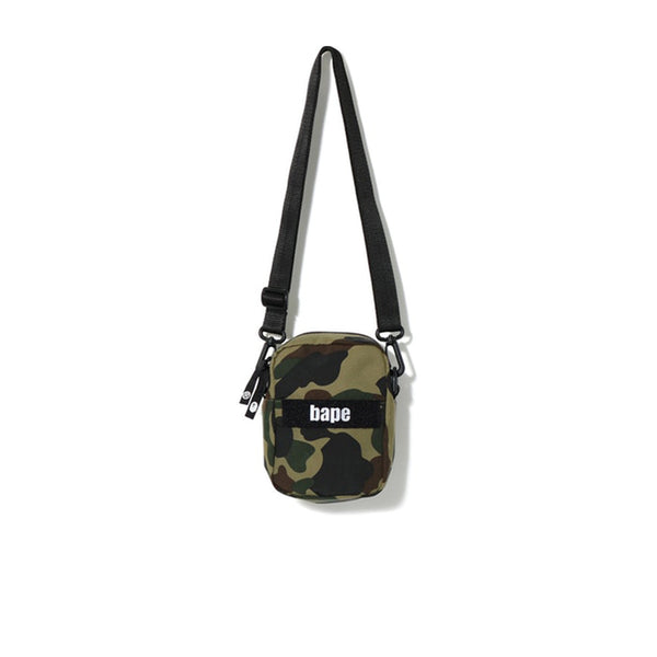 BAPE 1ST CAMO MILITARY SHOULDER BAG GREEN SS19