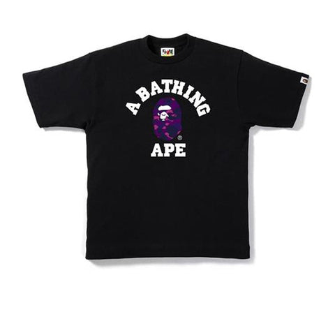 BAPE COLOUR CAMO COLLEGE TEE BLACK/PURPLE