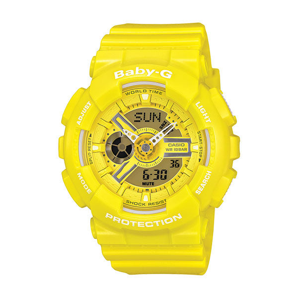 CASIO BABY-G MULTI-DIMENSIONAL SERIES - YELLOW BA110BC-9A