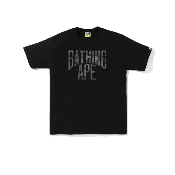 BAPE ABC DOT REFLECTIVE NYC LOGO TEE BLACK FW19