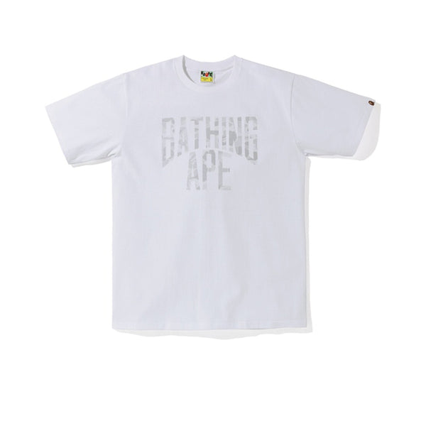 BAPE ABC DOT REFLECTIVE NYC LOGO TEE WHITE FW19