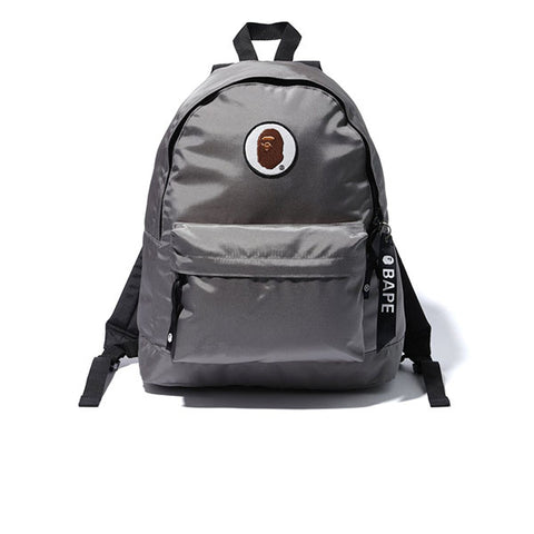 BAPE HAPPY NEW YEAR APE HEAD PATCH BACKPACK GREY SS19