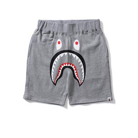 BAPE SHARK SWEAT SHORTS GREY