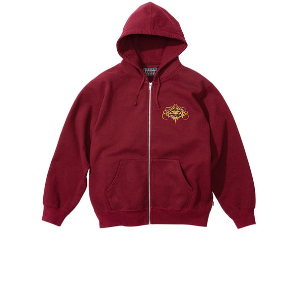 SUPREME HYSTERIC GLAMOUR ZIP UP HOODED SWEATSHIRT CARDINAL SS21