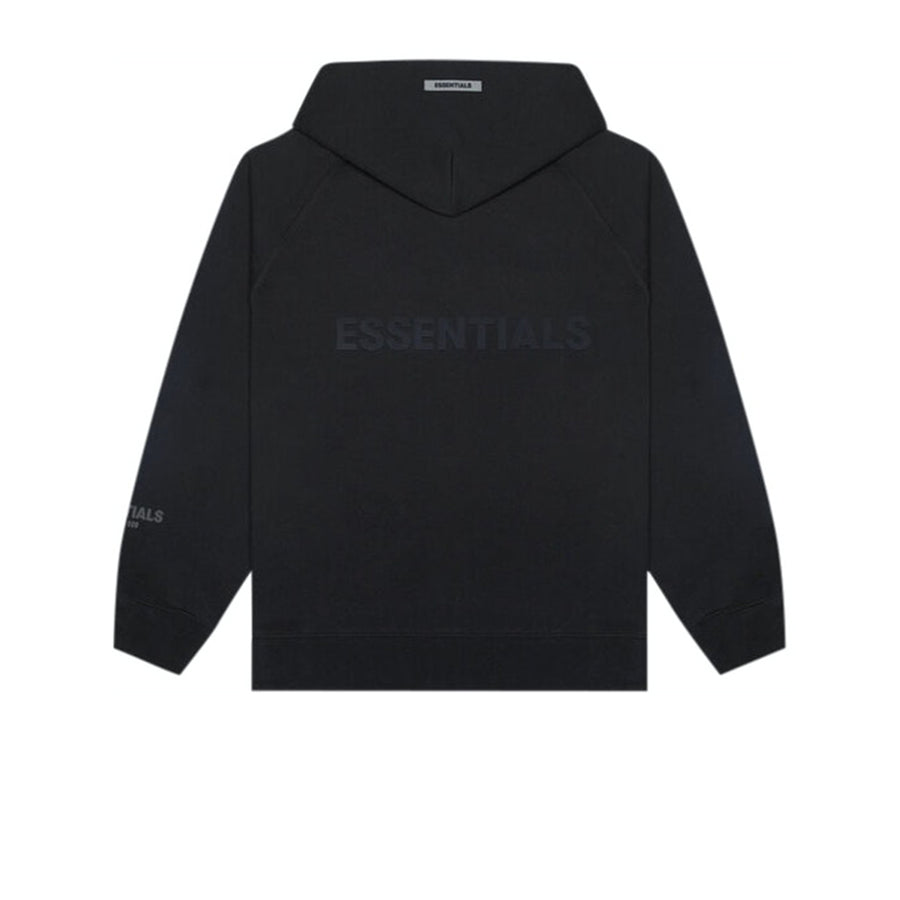 FEAR OF GOD ESSENTIALS 3D SILICON APPLIQUE FULL ZIP UP HOODIE DARK SLATE/STRETCH LIMO/BLACK