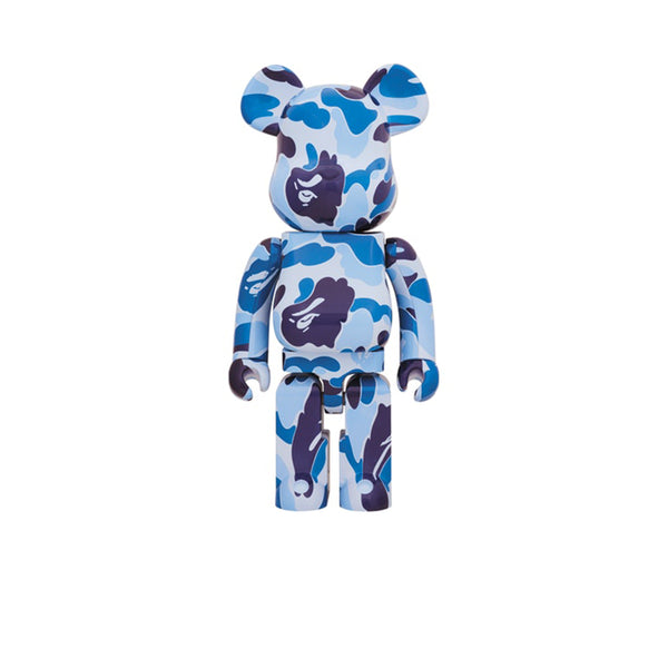 BAPE X BEARBRICK ABC CAMO 1000% BLUE