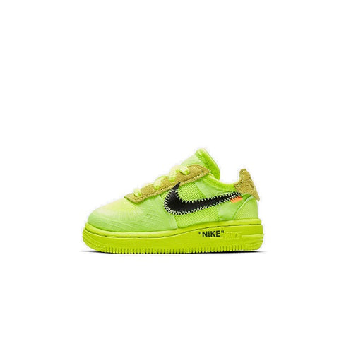 "NIKE AIR FORCE 1 LOW OFF-WHITE TD ""VOLT"" (INFANT) 2018 BV0854-700"