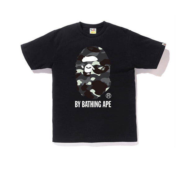BAPE CITY CAMO BY BATHING TEE BLACK BLACK