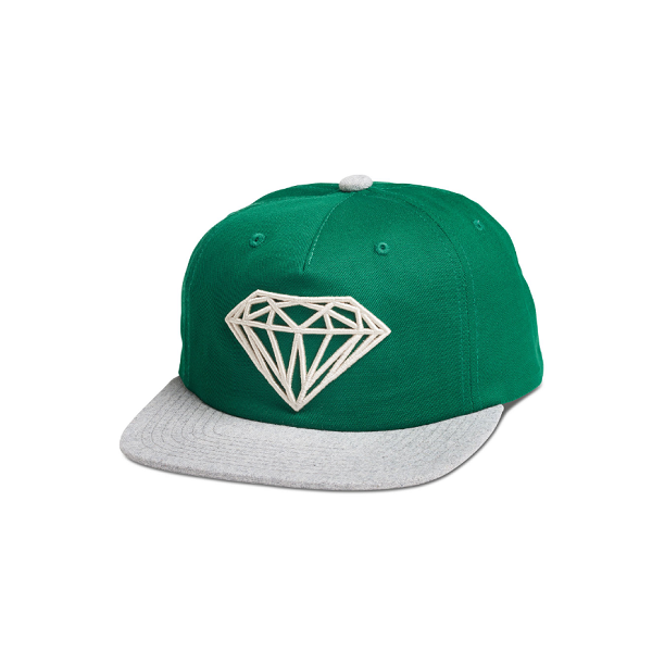 "DIAMOND SUPPLY CO. BRILLIANT TWO-TONE DECONSTRUCTED SNAPBACK CAP ""GREEN/GREY"""