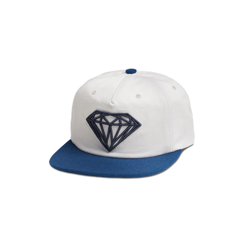 "DIAMOND SUPPLY CO. BRILLIANT TWO-TONE DECONSTRUCTED SNAPBACK CAP ""WHITE/BLUE"""