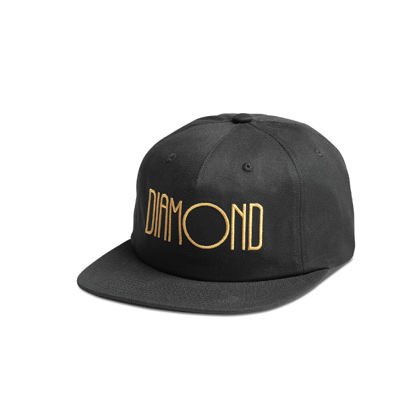DIAMOND SUPPLY CO. DIAMOND DECO DECONSTRUCTED STRAPBACK CAP BLACK