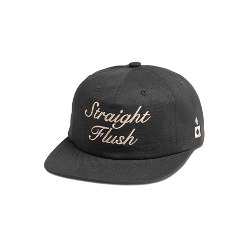 "DIAMOND SUPPLY CO. STRAIGHT FLUSH DECONSTRUCTED STRAPBACK CAP ""BLACK"""