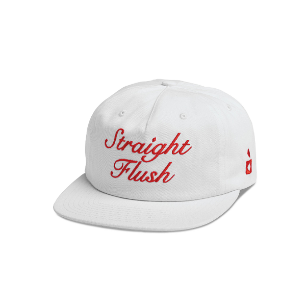 "DIAMOND SUPPLY CO. STRAIGHT FLUSH DECONSTRUCTED STRAPBACK CAP ""WHITE"""