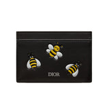 DIOR X KAWS YELLOW BEES BLACK CARD HOLDER