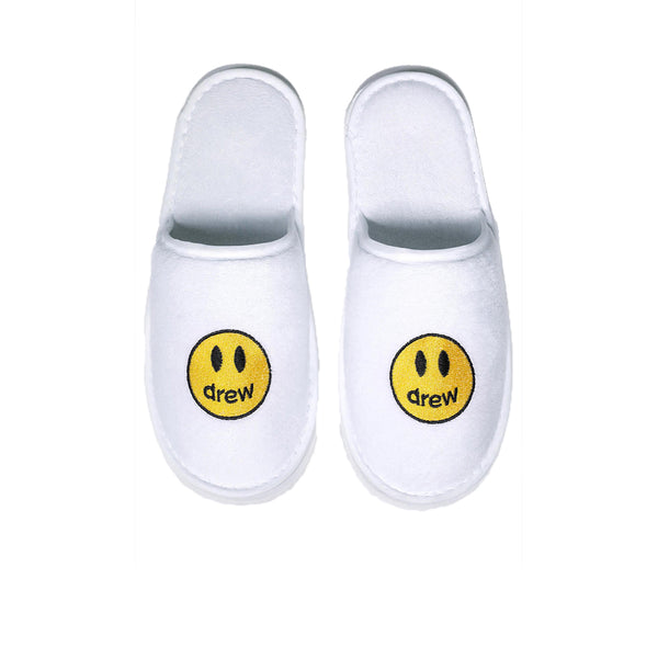 DREW HOUSE MASCOT SLIPPERS WHITE