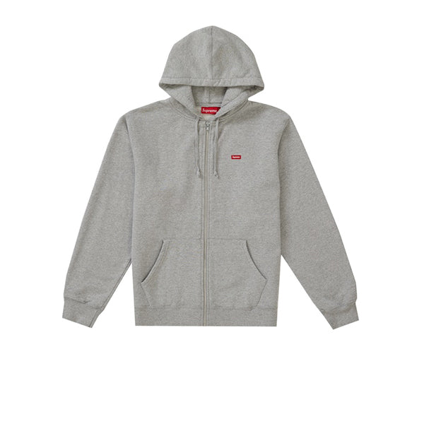 SUPREME SMALL BOX ZIP UP SWEATSHIRT HEATHER GREY SS19