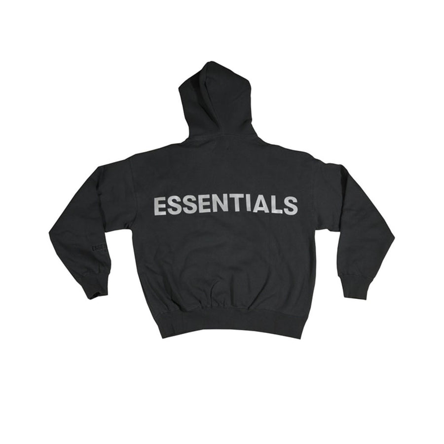 FEAR OF GOD ESSENTIALS 3M LOGO PULLOVER HOODIE BLACK