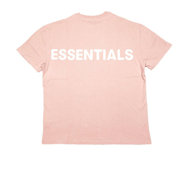FEAR OF GOD ESSENTIALS PINK 3M LOGO BOXY T-SHIRT BLUSH