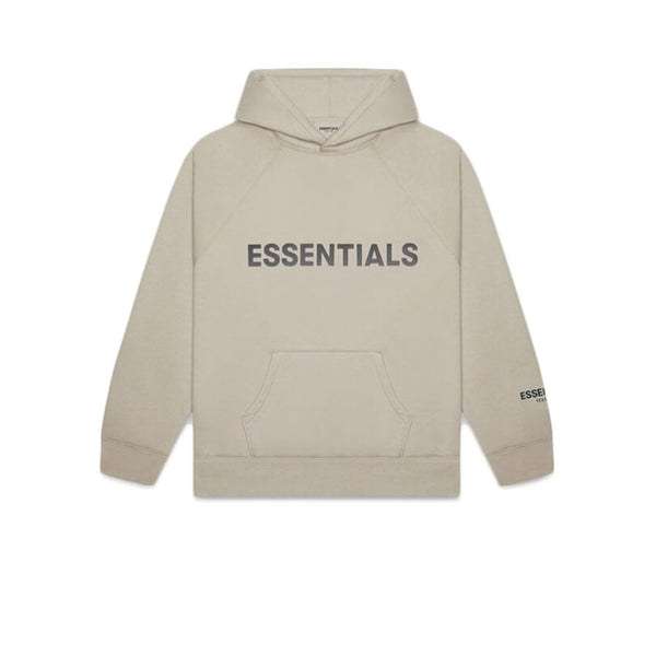 FEAR OF GOD ESSENTIALS 3D SILICON APPLIQUE PULLOVER HOODIE OLIVE KHAKI
