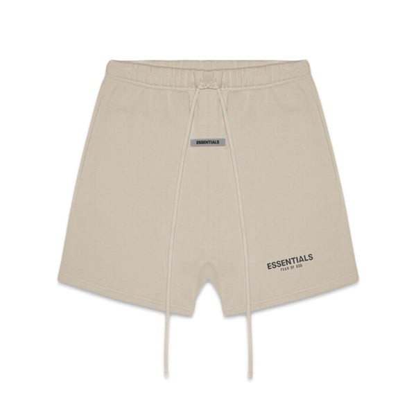 FEAR OF GOD ESSENTIALS FLEECE SHORTS OLIVE KHAKI