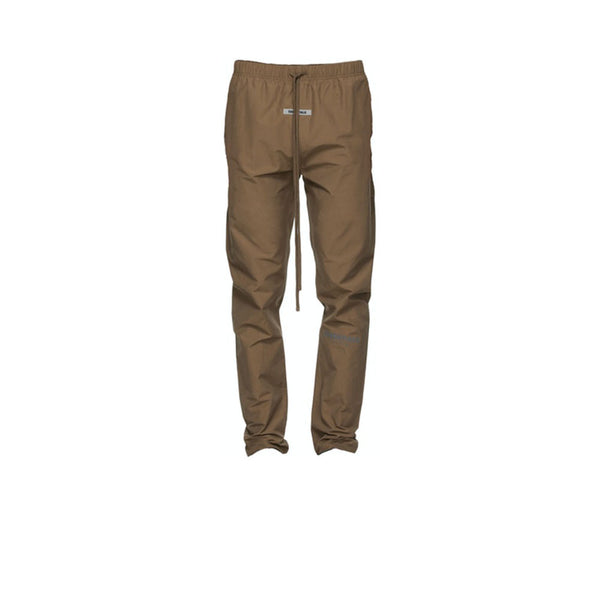 FEAR OF GOD ESSENTIALS NYLON TRACK PANTS BROWN