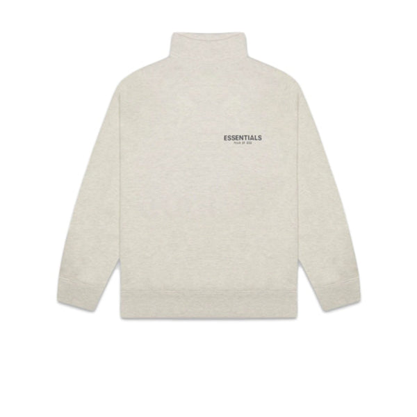 FEAR OF GOD ESSENTIALS PULL-OVER MOCKNECK SWEATSHIRT OATMEAL HEATHER