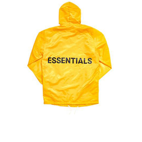 "FEAR OF GOD ESSENTIALS GRAPHIC HOODED COACH JACKET ""YELLOW"" FW18"