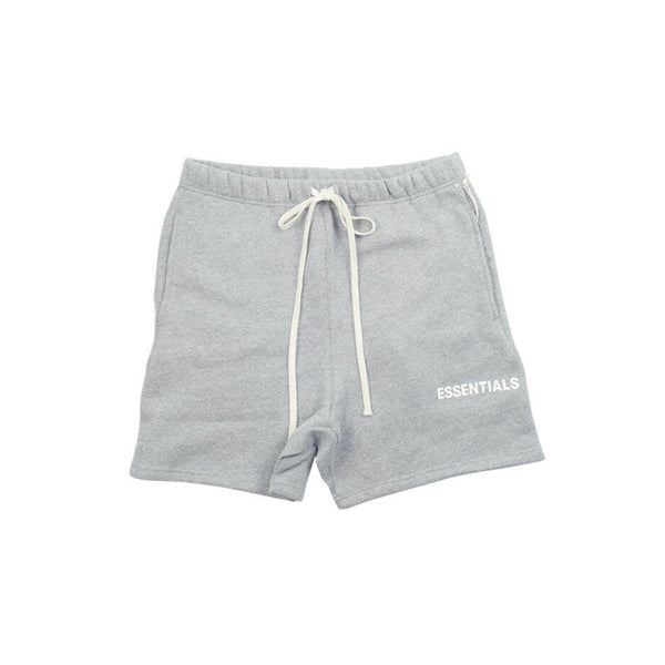 FEAR OF GOD ESSENTIALS GRAPHIC SWEAT SHORTS GREY/WHITE FW18