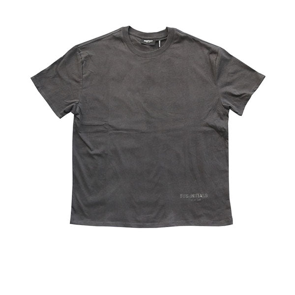 FEAR OF GOD ESSENTIALS LOGO BOXY TEE BLACK
