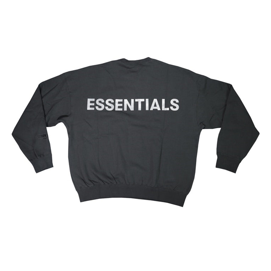 FEAR OF GOD ESSENTIALS 3M LOGO CREWNECK SWEATSHIRT BLACK FW19