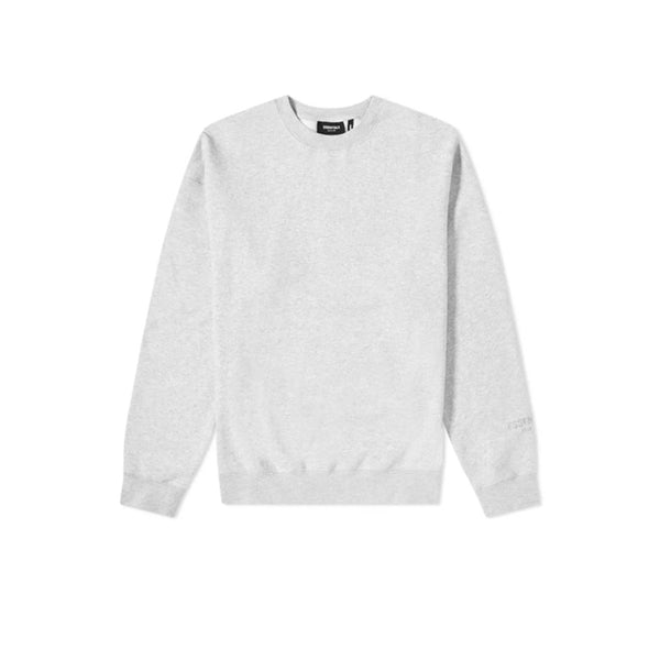 FEAR OF GOD ESSENTIALS 3M LOGO CREWNECK SWEATSHIRT HEATHER GREY/BLACK FW19