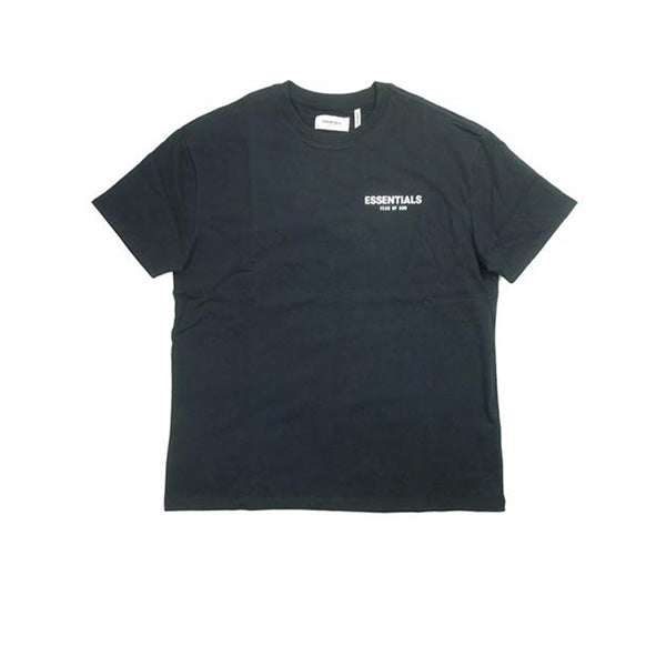 FEAR OF GOD ESSENTIALS BOXY LOGO TEE BLACK