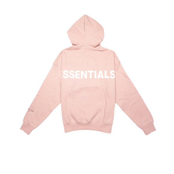 FEAR OF GOD ESSENTIALS PINK 3M LOGO PULLOVER HOODIE BLUSH FW19