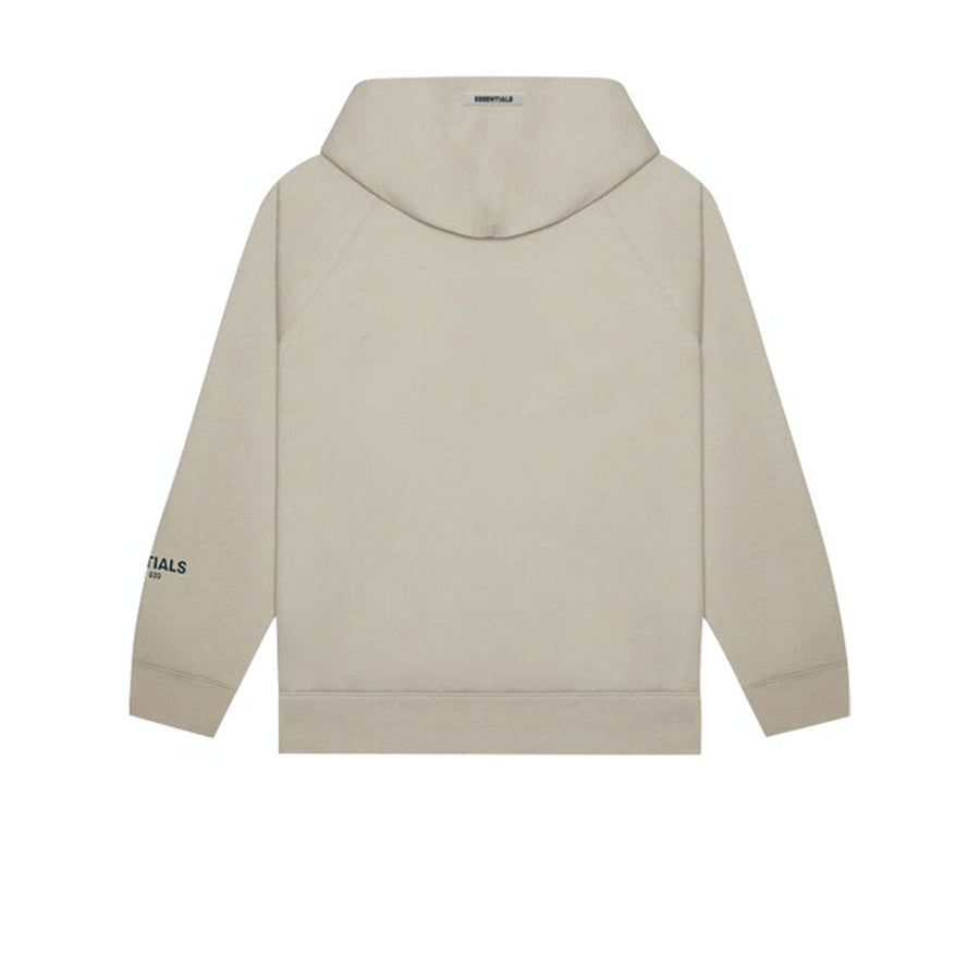 FEAR OF GOD ESSENTIALS 3D SILICON APPLIQUE PULLOVER HOODIE OATMEAL HEATHER