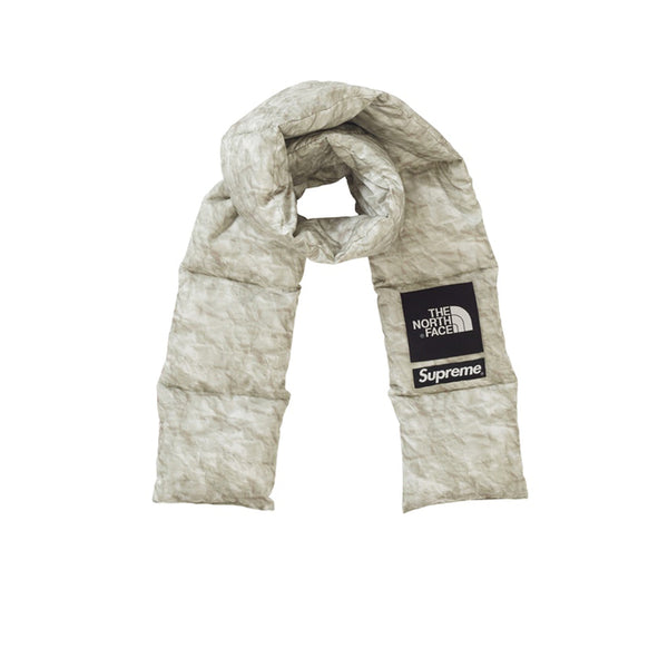 SUPREME THE NORTH FACE PAPER PRINT 700-FILL DOWN SCARF FW19