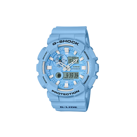 CASIO G-SHOCK ANALOG DIGITAL WATCH LIGHT BLUE GAX100CSA-2A