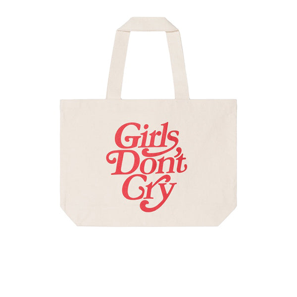 GIRLS DON'T CRY LOGO TOTE BAG NATURAL