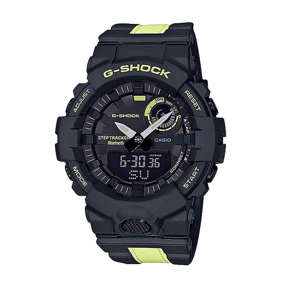 CASIO G-SHOCK POWER TRAINER 3M MATERIAL CONNECTED WATCH BLACK GBA800LU-1A1
