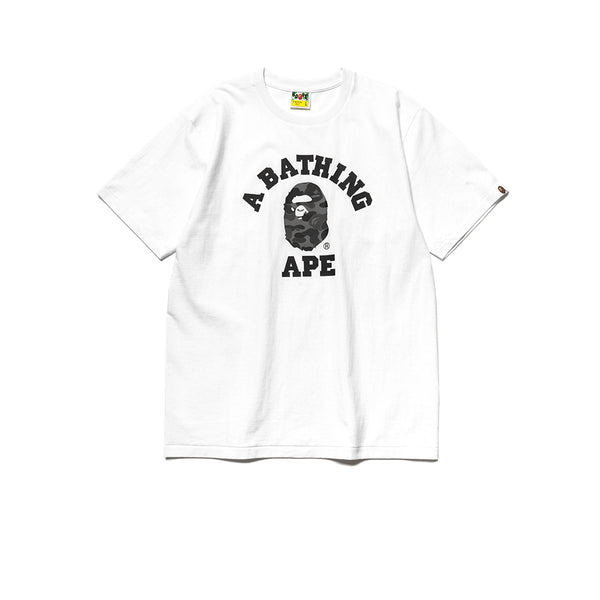 BAPE ABC COLLEGE TEE WHITE BLACK FW19