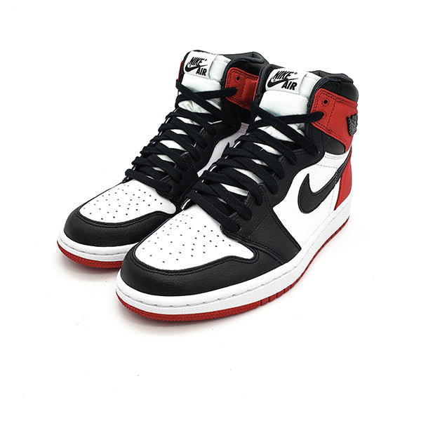 "AIR JORDAN 1 RETRO WMNS ""SATIN BLACK TOE"" 2019"