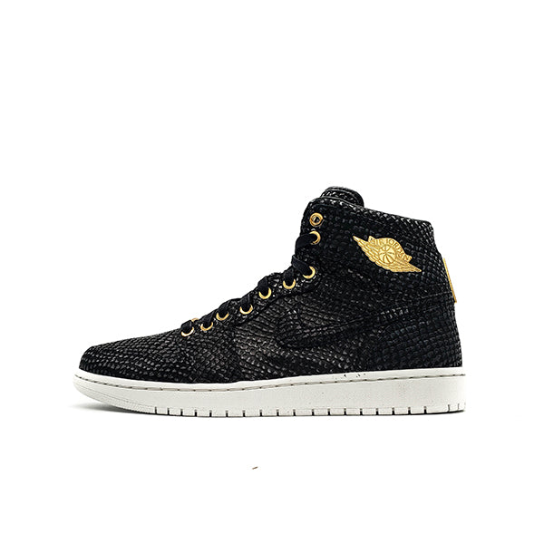 "AIR JORDAN 1 RETRO ""PINNACLE BLACK"" 2015"