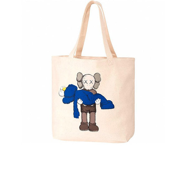 KAWS X UNIQLO GONE TOTE BAG NATURAL SS19