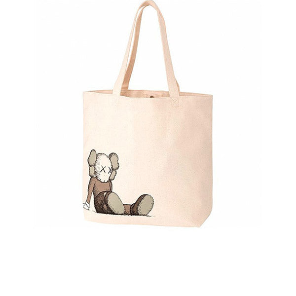 KAWS X UNIQLO HOLIDAY TOTE BAG NATURAL SS19