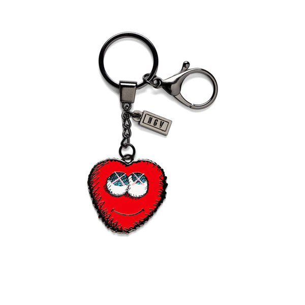 KAWS HEART KEYRING RED FW19